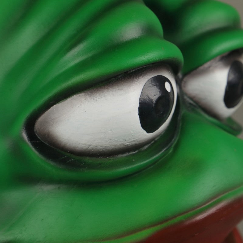 Sad Frog Cosplay Latex Helmet Halloween Props