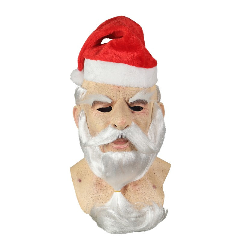 Santa Claus Cosplay Latex Helmet Halloween Props
