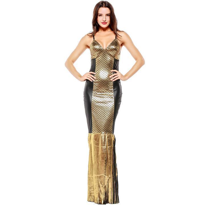 BFJFY Scintillating Exotic Scene Adult Women's Fantasitic Cleo Egyptian Queen Grand Party Costume - bfjcosplayer