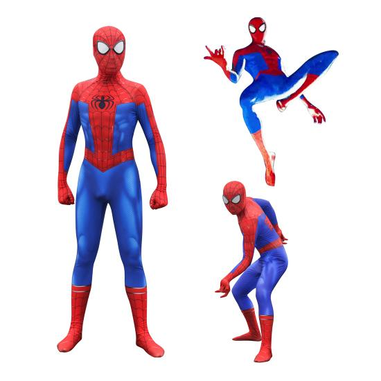 Spider-Man In de Spider-Vers Peter Benjamin Parke Cosplay Kostuum Zentai Spiderman Superhero Patroon Bodysuit Pak Jumpsuits - bfjcosplayer