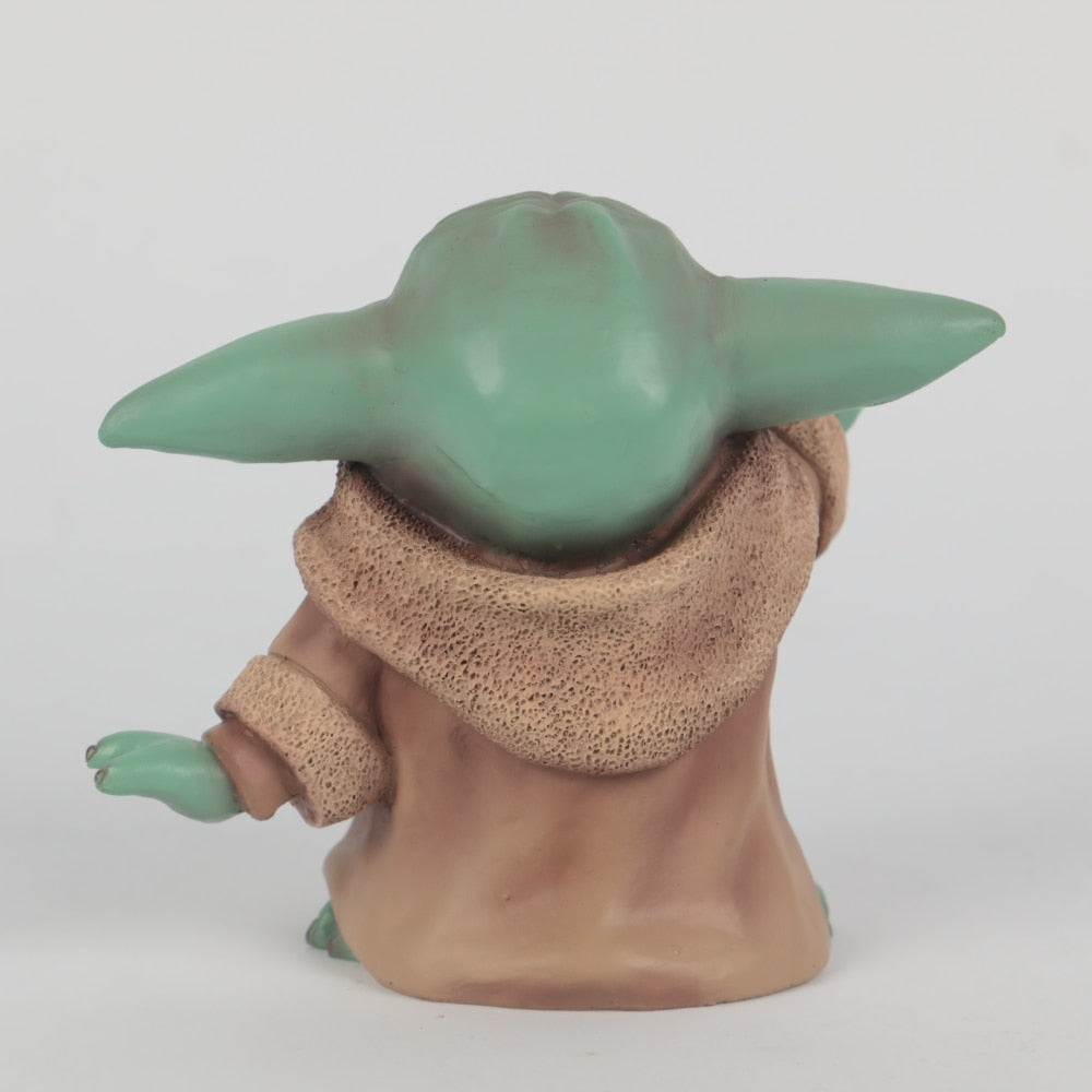 Star Wars The Mandalorian The Child Baby Yoda Action Figure Collection Toy Resin Star Wars Accessories Prop