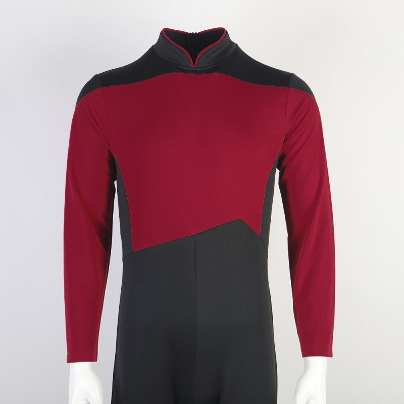 Star Trek The Next Generation Picard Red Jumpsuit Cosplay Costume