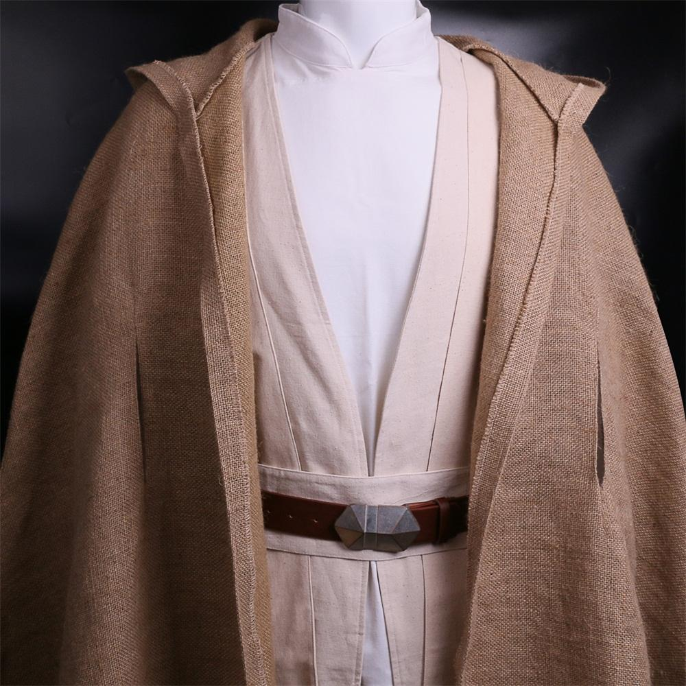 100% Original NEW Star Wars Jedi Luke Skywalker Custom Cosplay Costume Made Full Set COS Halloween Costume Christmas