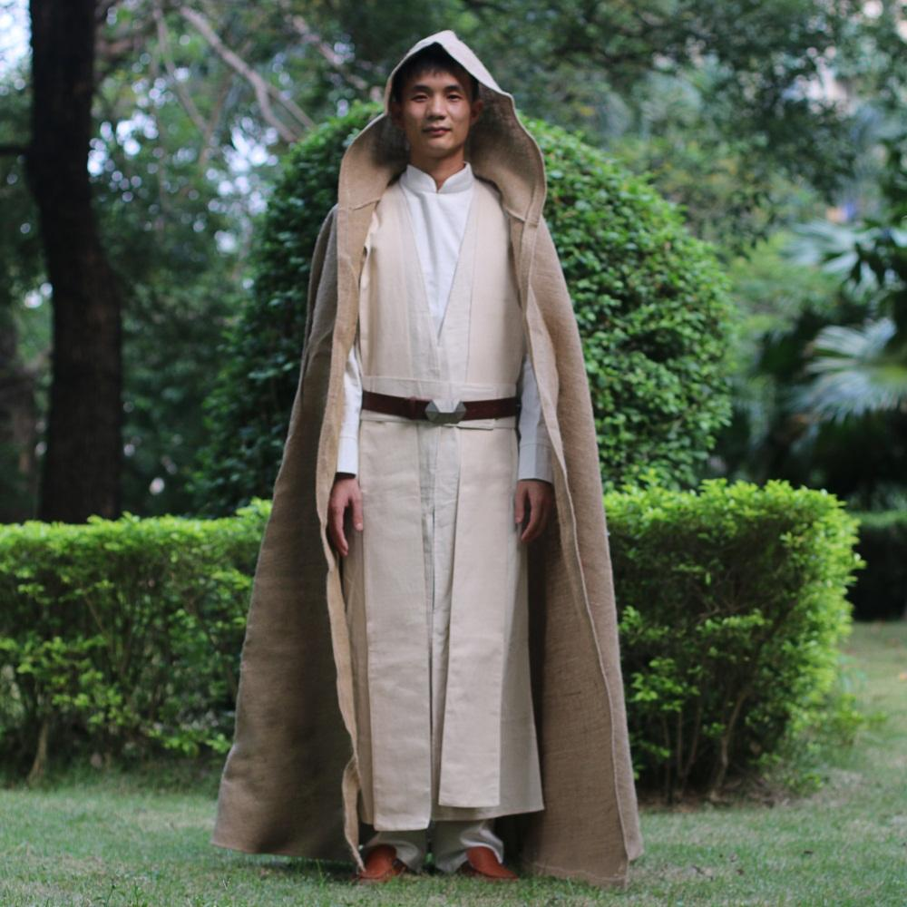 Star Wars Cosplay Kenobi Jedi Deluxe Version Halloween Costumes