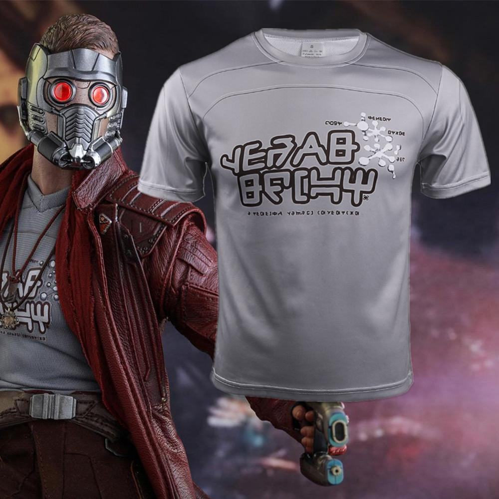 Avengers: Infinity War & Guardians of the Galaxy2 Star Lord T-shirts Short Sleeve - bfjcosplayer