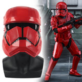 New Star Wars 9 The Rise of Skywalker Sith Trooper Red mask Cosplay Halloween latex  Helmets Prop - bfjcosplayer