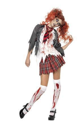 BFJFY Women Zombie Bloody Students' Uniform Halloween Cosplay Costume - bfjcosplayer