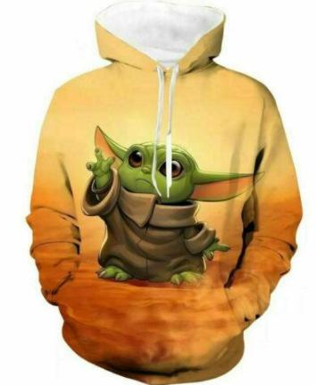 Star Wars The Mandalorian Sweater Baby Yoda Halloween Hoodies costume - bfjcosplayer