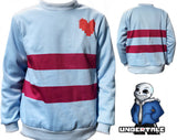 Undertale Frisk Cosplay Hoodie Halloween Costume