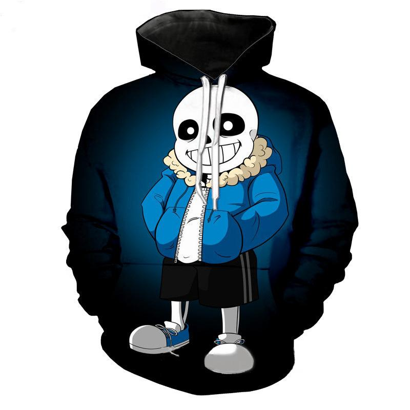 Game Undertale sans 3D printed hooded sweater cosplay costume - bfjcosplayer