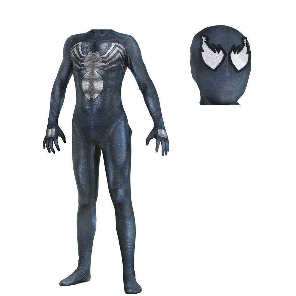 Venom Symbiote SpiderMan Jumpsuit Venom Mask Cosplay Costume Superhero Bodysuit Halloween Party Props - bfjcosplayer