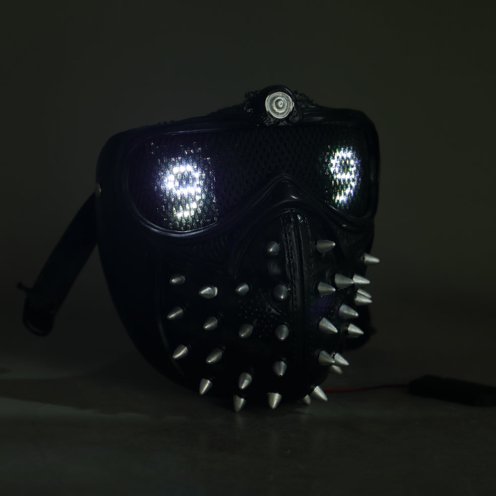 Watch Dogs 2 Cosplay Remote Version Helmet LED Light 25 Emoji Changeable Halloween Props