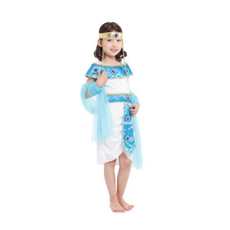 BFJFY Halloween Girls Egyptian Princess Cosplay Fancy Dress Costume - bfjcosplayer