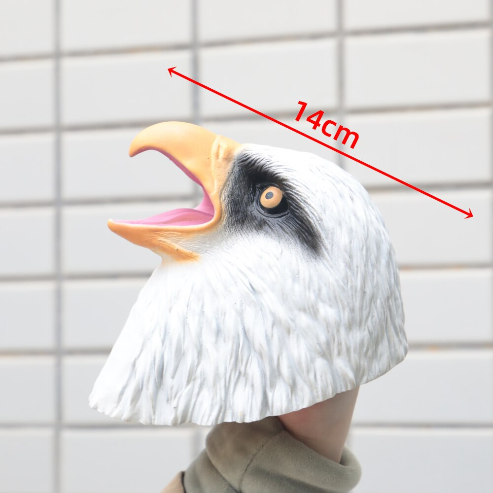 Wildlife Eagle Head Hand Puppet Soft Kids Children Toy Animal Hawk Head Gloves Funny Toy Cosplay Accessories Prop