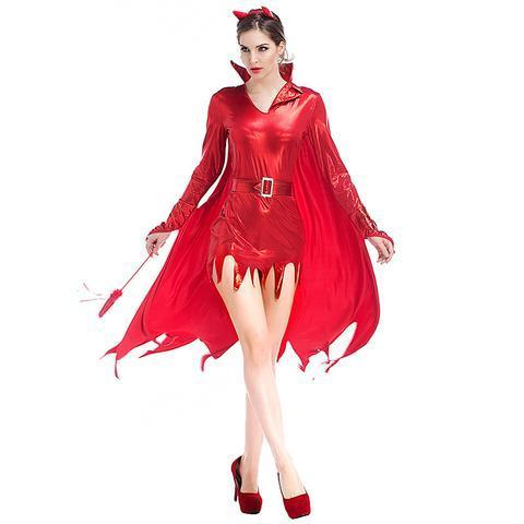 BFJFY Womens Hot Stuff Red Sexy Devil Costume Hit The Parties On Halloween - bfjcosplayer
