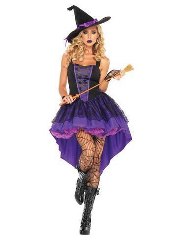 BFJFY Halloween Witch Wizard Costume Vampire Ghost Party Dress For Women - bfjcosplayer