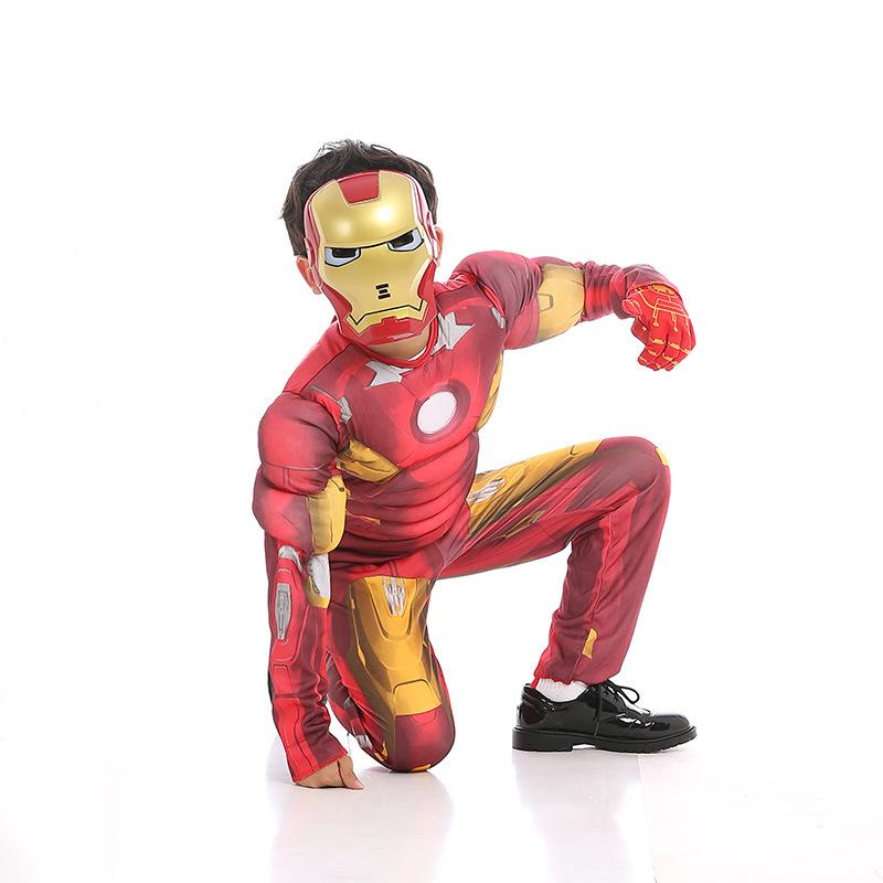 Halloween costume children cosplay Avengers Iron Man clothes mask suit For Kids - bfjcosplayer