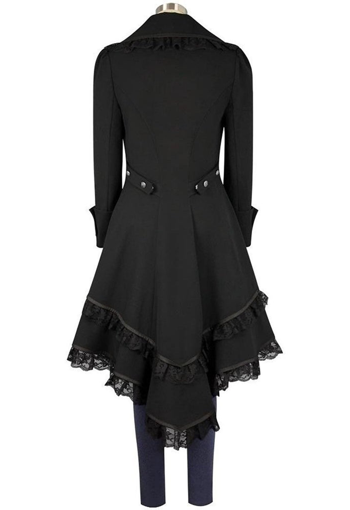 BFJFY Halloween Women's Victorian Tuxedo Tailcoat Steampunk Jacket - bfjcosplayer