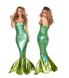 BFJFY Women Sexy Halloween Party Cosplay Mermaid Dress - bfjcosplayer