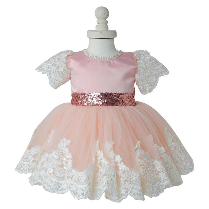 BFJFY Girl's Lace Bowknot Dresses Princess Wear Halloween Cosplay Costume - bfjcosplayer