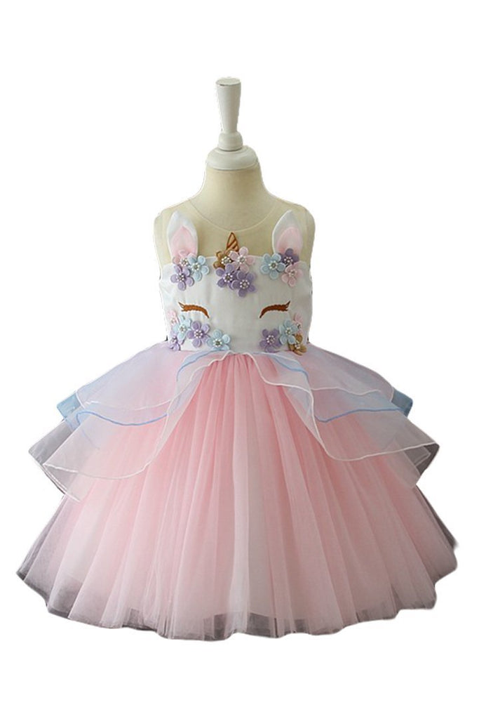 BFJFY Halloween Girl's Unicorn Costume Dress Princess Dress - bfjcosplayer