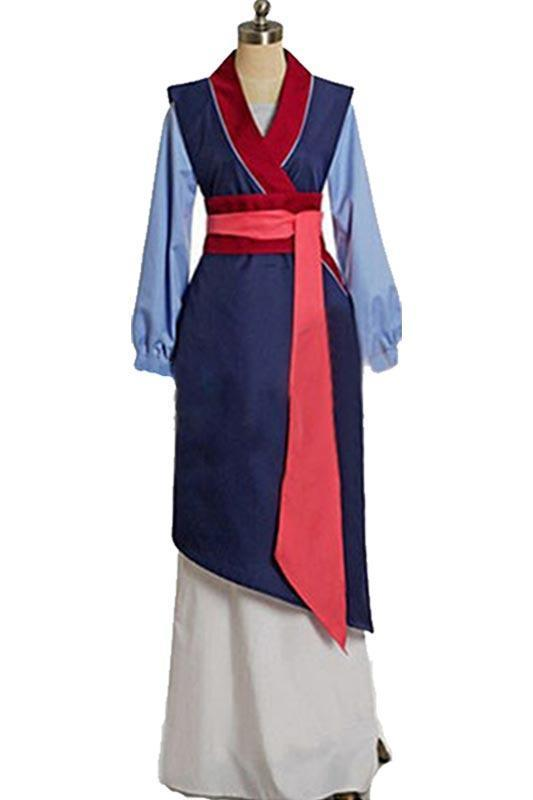 BFJFY Halloween Women Disney Heroine Mulan Cosplay Dress Outfit - bfjcosplayer