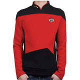 Star Trek TNG The Next Generation Red Shirt Uniform Cosplay Costume For Men Coat Halloween Party Prop
