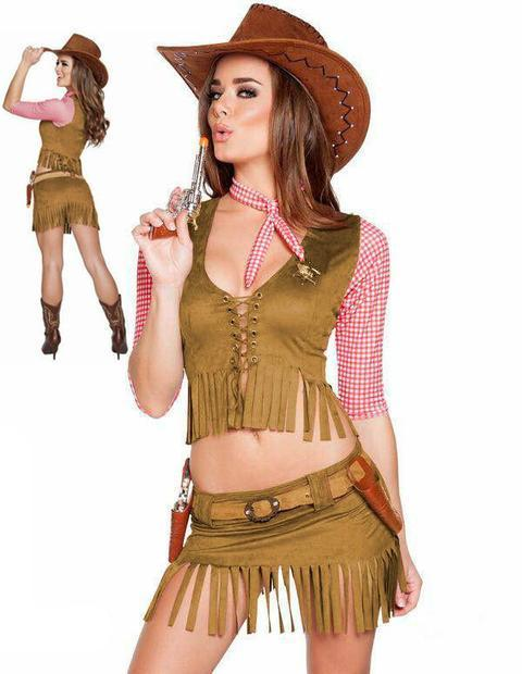 BFJFY Women's Halloween Cowgirl Cosplay Outfit Fancy Party Costume - bfjcosplayer