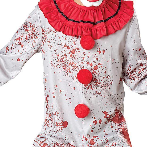 BFJFY Halloween Boys Bloody Circus Costume Scary Clown Cosplay Costume - bfjcosplayer
