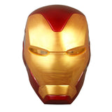 Avengers: Endgame Iron Man Helmet Mask With Led Light Cosplay Ironman Cpsplay Helmets Masks Superhero Costume Weapons Halloween - bfjcosplayer
