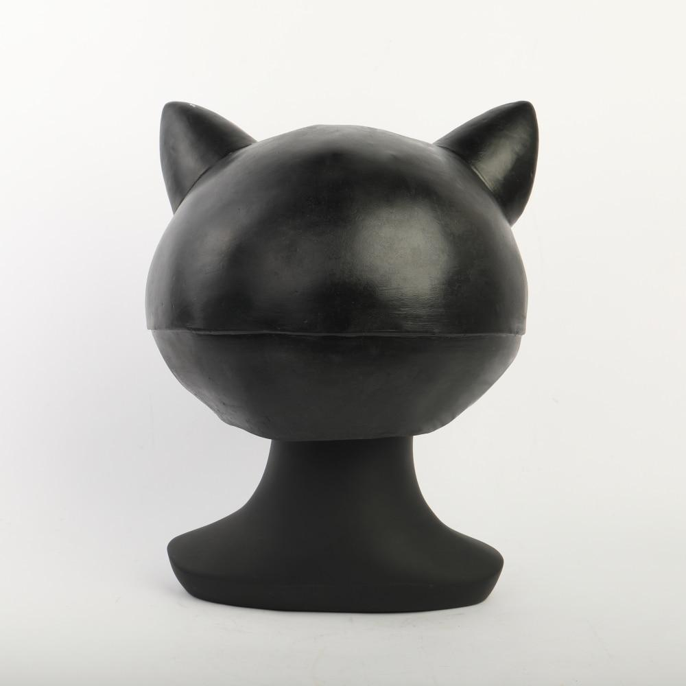 Cosplay Persona 5 Morgana Mask Latex the Animal Black Cat Mona Halloween Party Mask Full Head Adult - bfjcosplayer