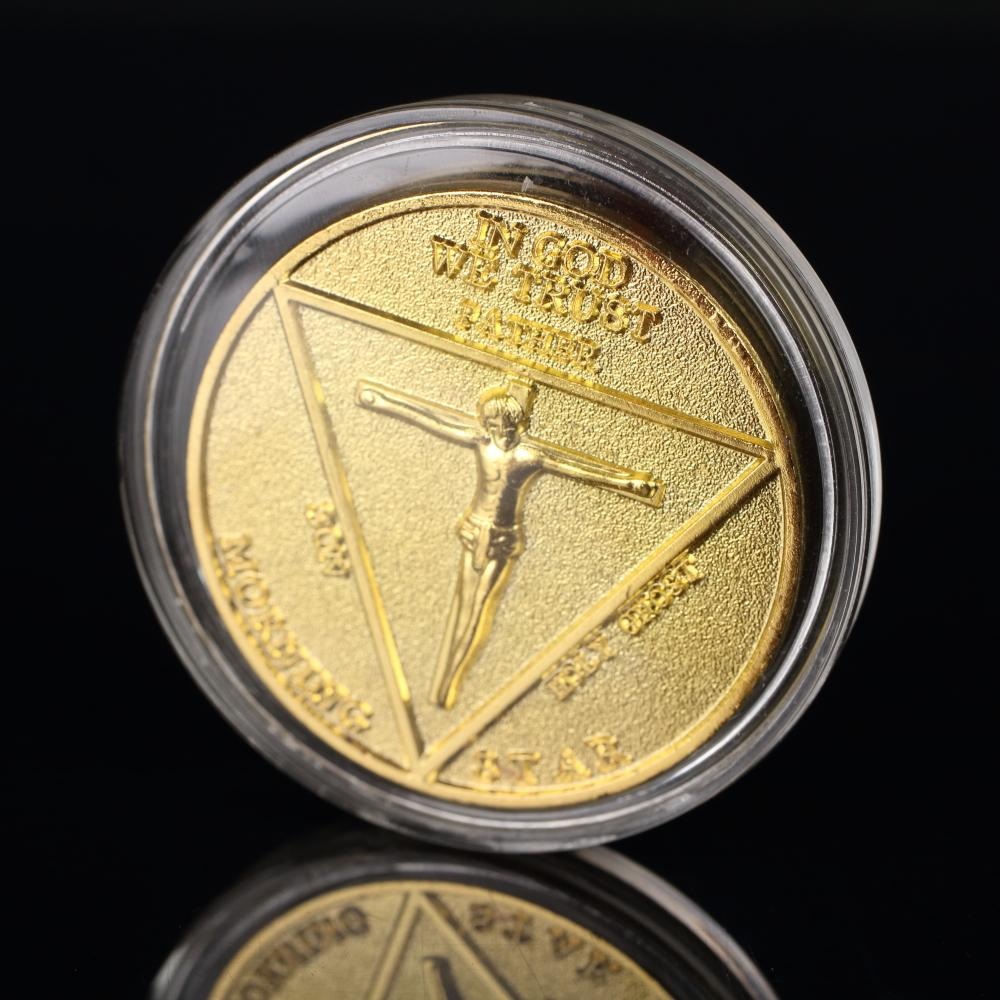 Lucifer Pentecostal Coin Silver&Gold Coin High Quality Brand Sale Cosplay Accessories Movie Costume Prop For Fans - bfjcosplayer
