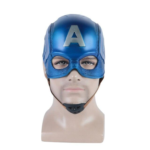 Captain America 3 Civil War Captain America Helmet Soft PVC Cosplay Steven Rogers Superhero Latex Mask Halloween Party Prop - bfjcosplayer