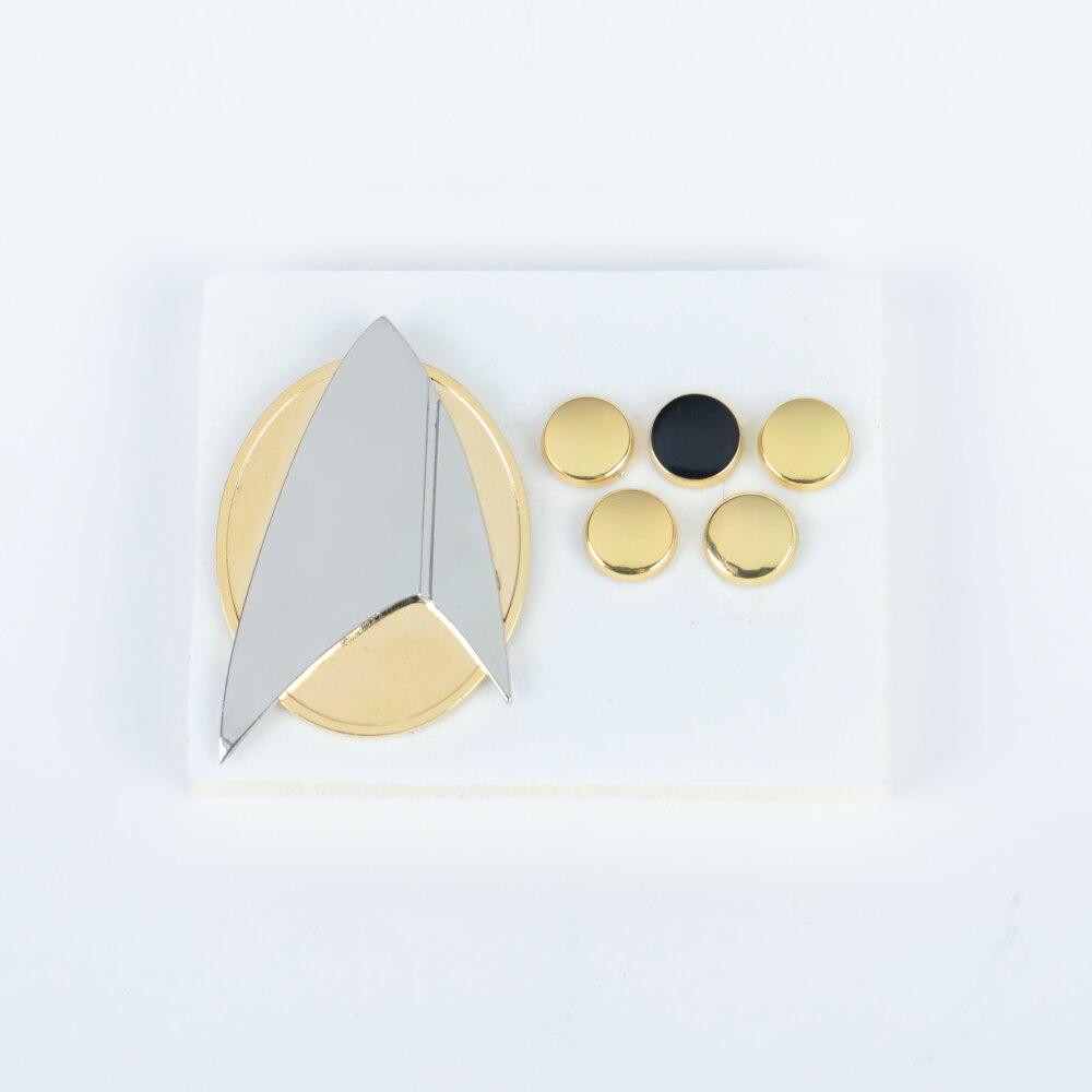 Star Trek Picard Combadge Rank Pips Brooch Command Science Engineering Pin Badge Accessories Halloween Party Prop a set - bfjcosplayer