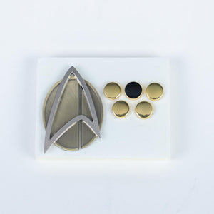 6pcs/set  Star Trek Picard Combadge Rank Pips Brooch Command Science Engineering Pin Badge Accessories - bfjcosplayer