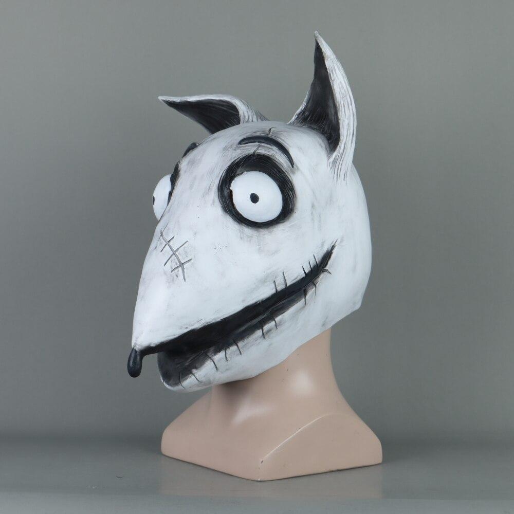New Frankenweenie Mask Cosplay Sparky Masks Animal Dog Mask Halloween Party Scary Prop - bfjcosplayer