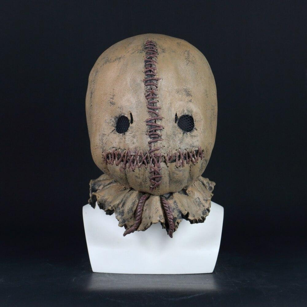 Cosplay Scarecrow Mask Scary Horror Costume Accessory Adult Halloween Mask Latex Props - bfjcosplayer