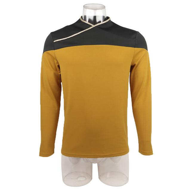 Star Trek TNG Captain Picard Red Uniform Top Jacket Voyager DS9 Yellow Cosplay Costumes Halloween Party Prop - bfjcosplayer