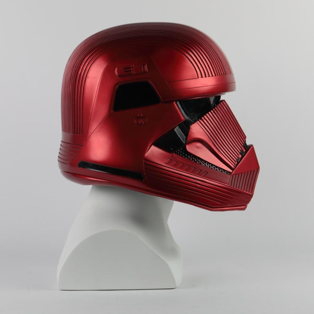 Star Wars 9 The Rise of Skywalker Sith Trooper Red Helmet Cosplay Halloween Star Wars Helmets Mask Prop - bfjcosplayer