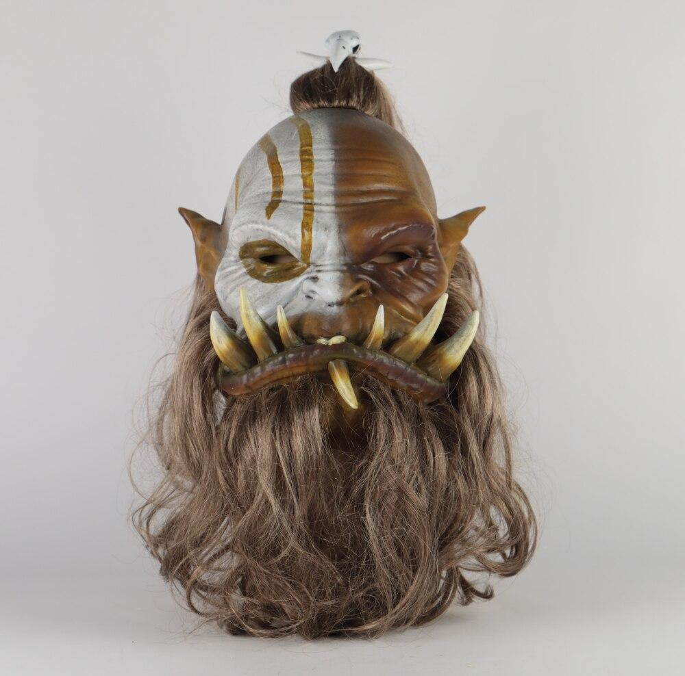 2019 New World of Warcraft Mask Ogrim Doomhammer Latex Mask Cosplay Party Halloween Masks - bfjcosplayer