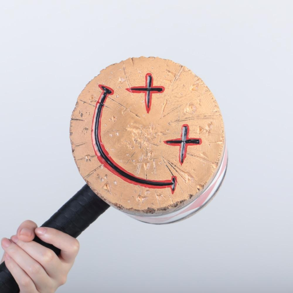 Birds of Prey Cosplay Harley Quinn Mallet Hammer Smile Face Suicide Squad Bat Halloween Props - bfjcosplayer