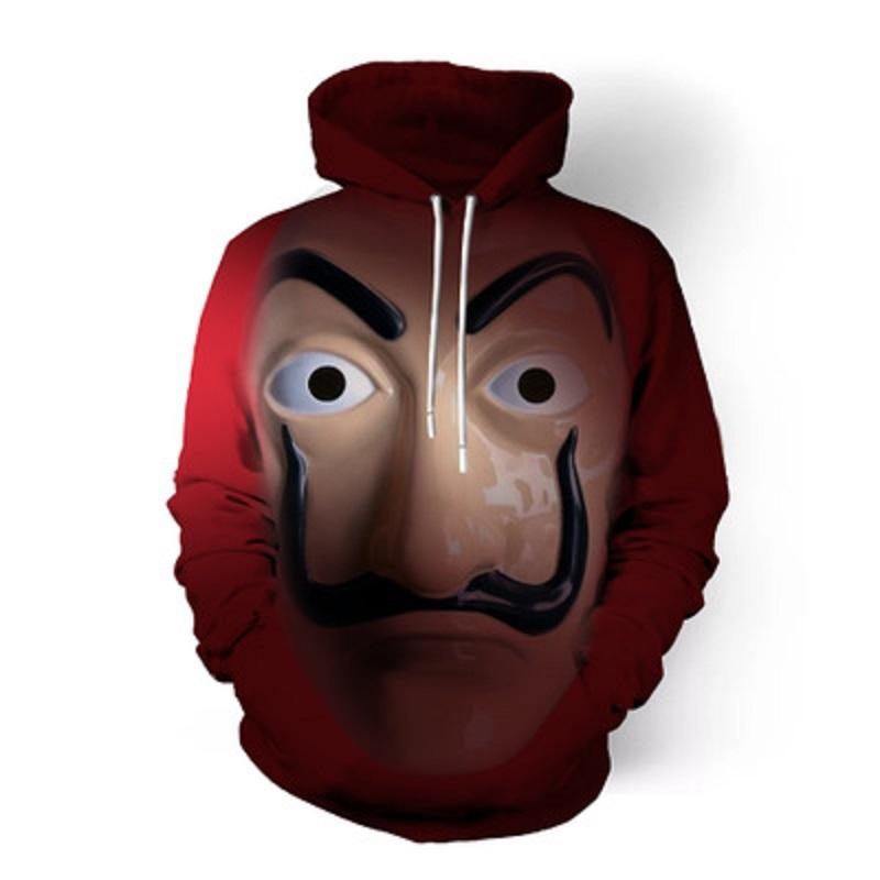 New Salvador Dali Robbery Paper House La Casa De Papel Sweatshirt Cosplay Costume Hoodie Coat Jacket Men Woman Top - bfjcosplayer