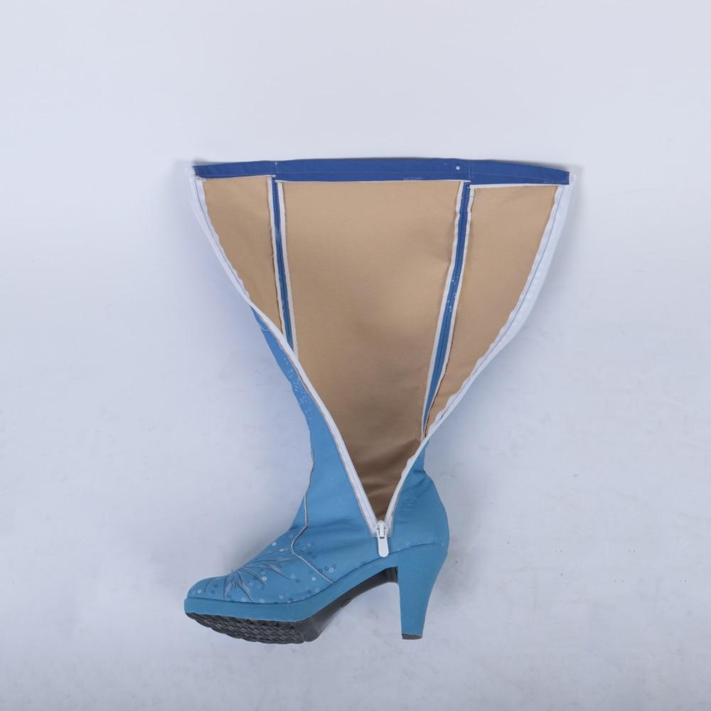 New Frozen 2 Cosplay Snow Adult Elsa Boots Costume Halloween Knee-high High Heel Elsa Shoes Costume Princess Ice Queen Elsa Prop - bfjcosplayer