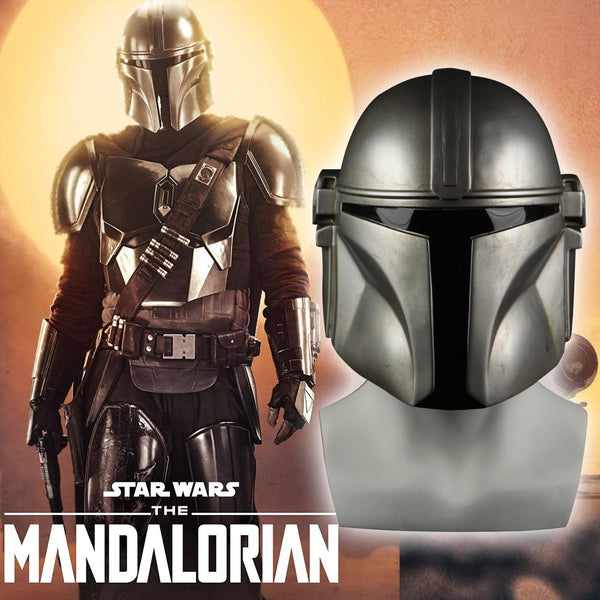 Star Wars Helmet The Mandalorian Cosplay Mask Pedro Pascal Mandalorian Soldier Warrior soft PVC Helmet Prop - bfjcosplayer