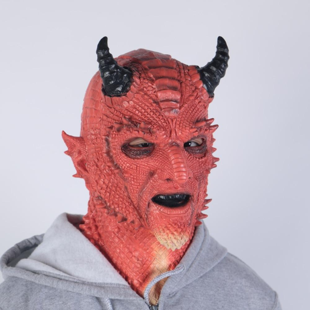 Game DIABLO 3 Boss Demon Belial Cosplay Prop Kids Adult Latex Mask Helmet Horn Headwear Gloves Paw Party Halloween Carnival Suit - bfjcosplayer