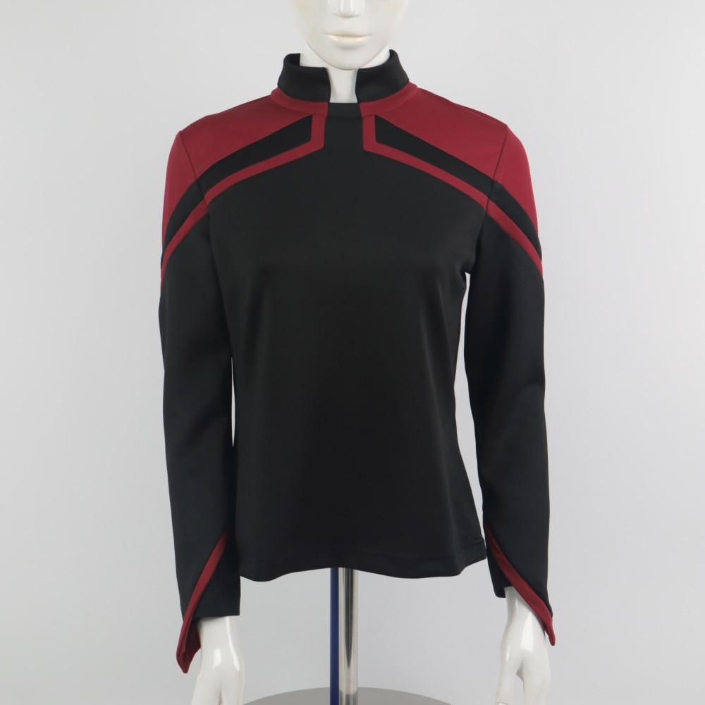 2020 Star Trek JL Picard Uniform Startfleet Female Red Gold Blue Top Shirt Cosplay Costume Women Adult Coat Prop