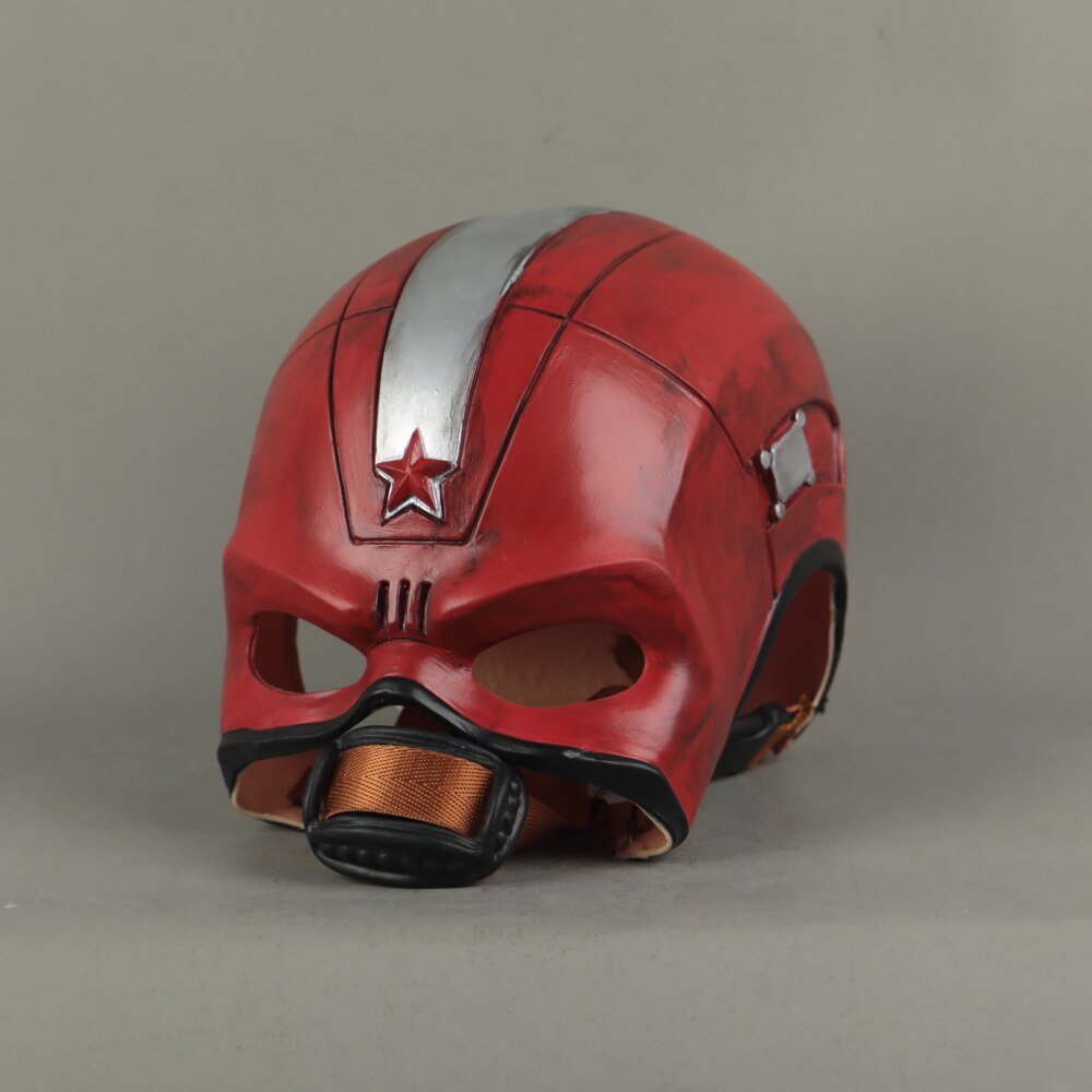 Cosplay Black Widow Red Guardian Mask Superhero Captain Aleksey Helmet Latex Maska Halloween Party Prop