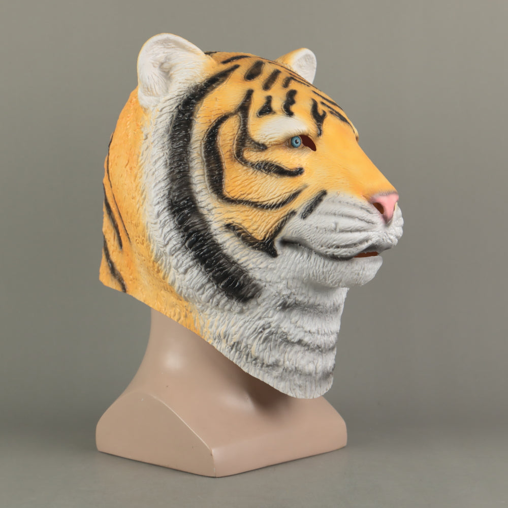 Animal Mask Cosplay Tiger Yellow Mask Animals Tigers Masks Masquerade Halloween Party Funny Dressed Costume Prop
