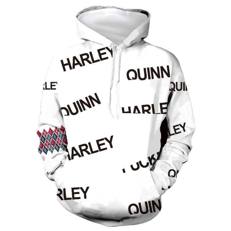 Birds of Prey Harley Quinn Hoodie Joker Jacket Coat Superhero Sweatshirt