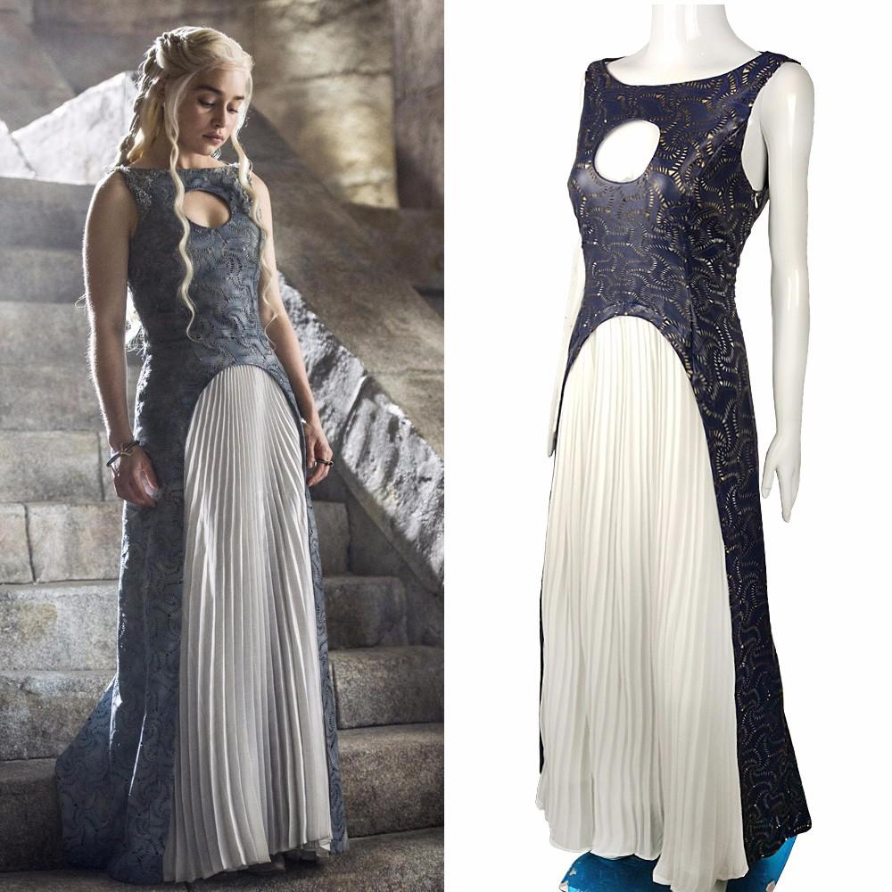 The Game Of Thrones Dress Cosplay Daenerys Targaryen Qarth Dress Leather Costume Halloween Party Prop - bfjcosplayer